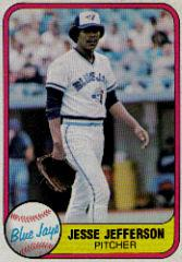 1981 Fleer #419C Jesse Jefferson P3/Back says Blue Jays