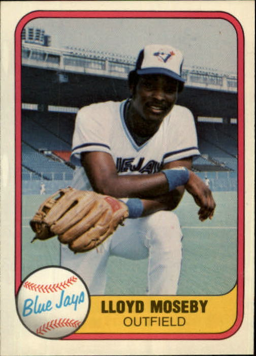 1981 Fleer #421 Lloyd Moseby RC