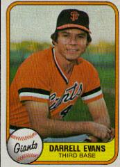1981 Fleer #436B Darrell Evans P2 COR/Name on front Darrell