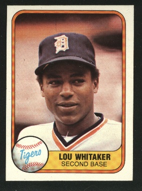 1981 Fleer #463 Lou Whitaker