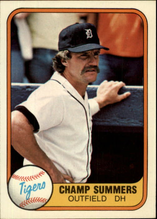 1981 Fleer #466 Champ Summers