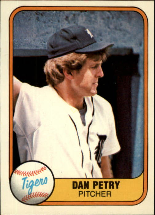 1981 Fleer #468 Dan Petry