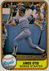 1981 Fleer #483B Amos Otis P2/See card 32