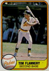 1981 Fleer #493B Tim Flannery P2/Batting left