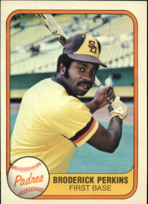 1981 Fleer #498 Broderick Perkins