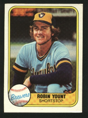 1981 Fleer #511 Robin Yount