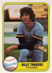1981 Fleer #514B Bill Travers P2 COR