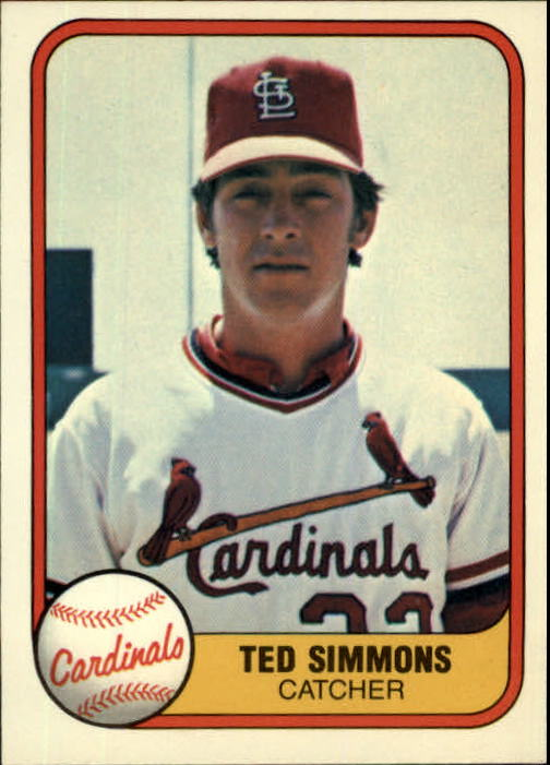 1981 Fleer #528 Ted Simmons