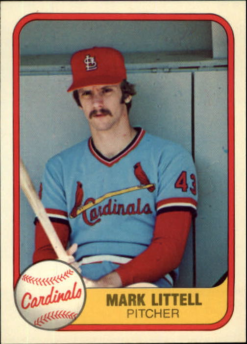 1981 Fleer #544 Mark Littell