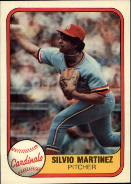 1981 Fleer #546 Silvio Martinez