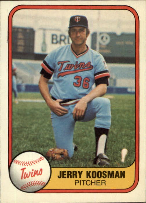 1981 Fleer #552 Jerry Koosman