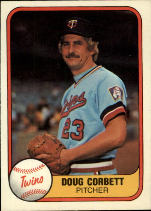 1981 Fleer #555 Doug Corbett