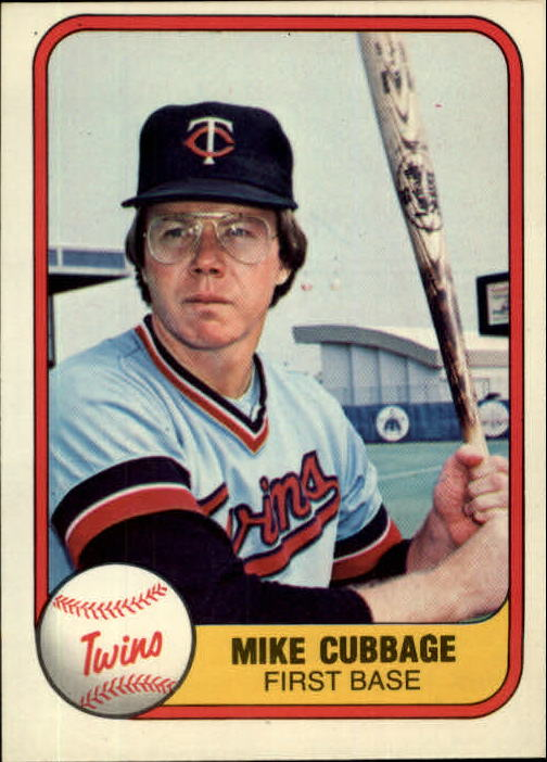 1981 Fleer #566 Mike Cubbage