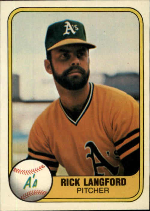1981 Fleer #572 Rick Langford