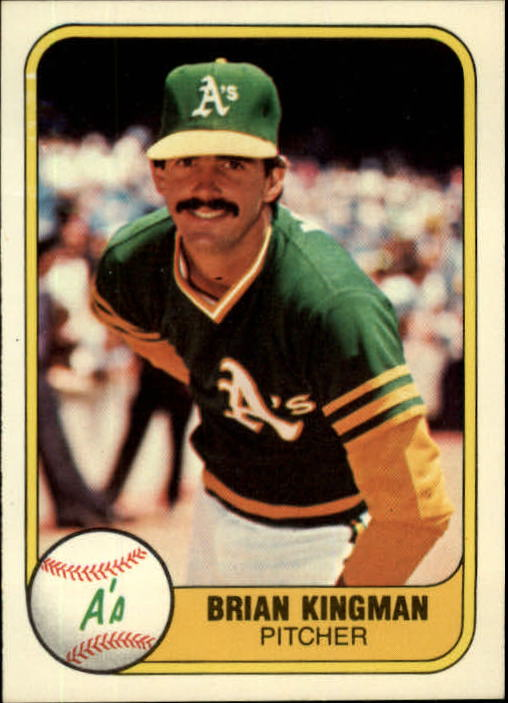 1981 Fleer #579 Brian Kingman