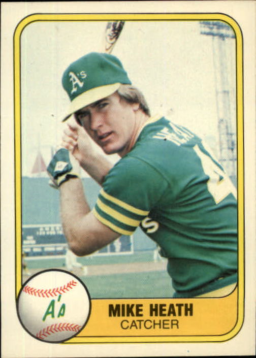 1981 Fleer #583 Mike Heath