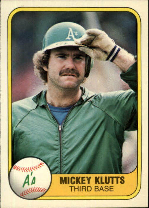 1981 Fleer #584 Mickey Klutts