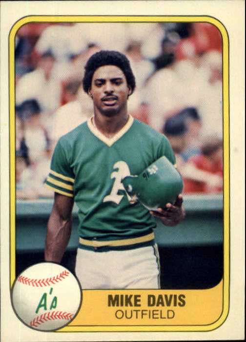 1981 Fleer #586 Mike Davis RC