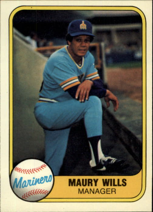 1981 Fleer #595 Maury Wills MG