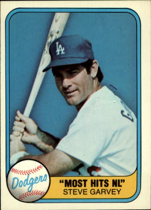 1981 Fleer #606 Steve Garvey/Most Hits NL