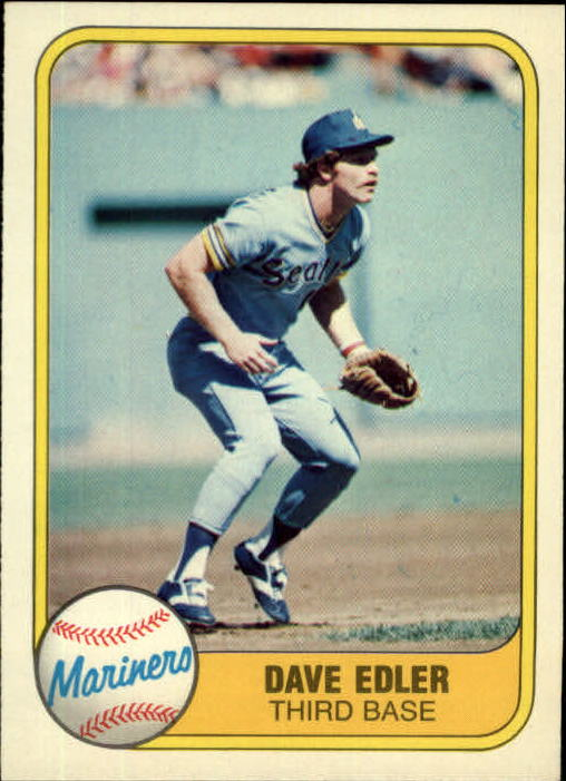 1981 Fleer #610 Dave Edler RC