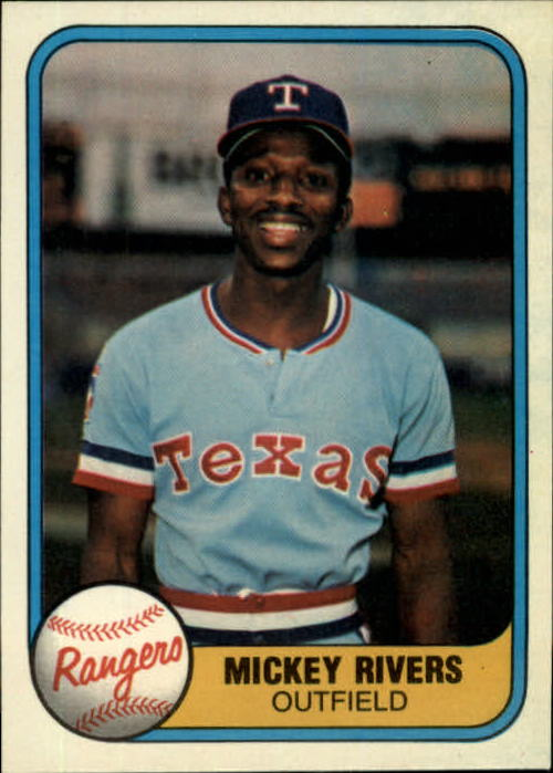 1981 Fleer #617 Mickey Rivers front image