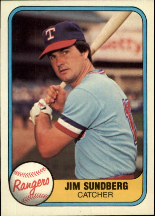 1981 Fleer #619 Jim Sundberg