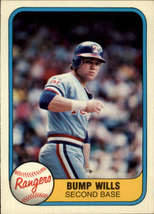 1981 Fleer #628 Bump Wills