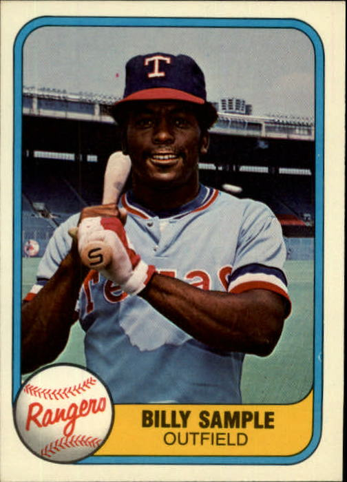 1981 Fleer #637 Billy Sample