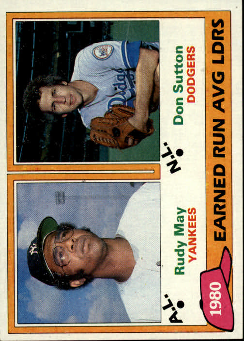 1981 Topps #7 Rudy May/Don Sutton LL