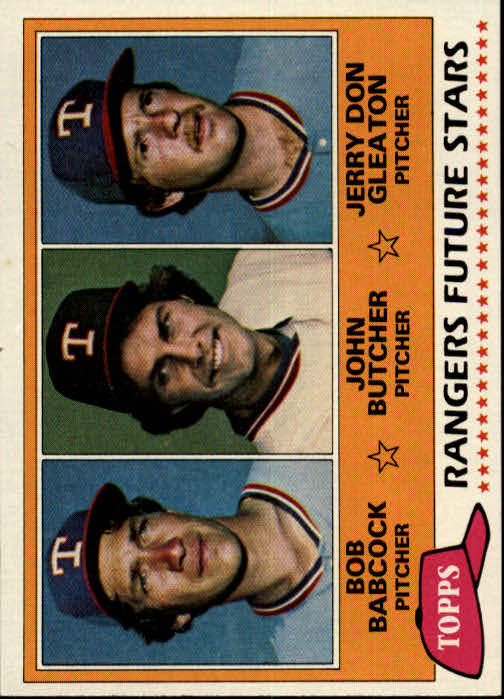 1981 Topps #41 Bob Bacock RC/John Butcher RC/Jerry Don Gleaton