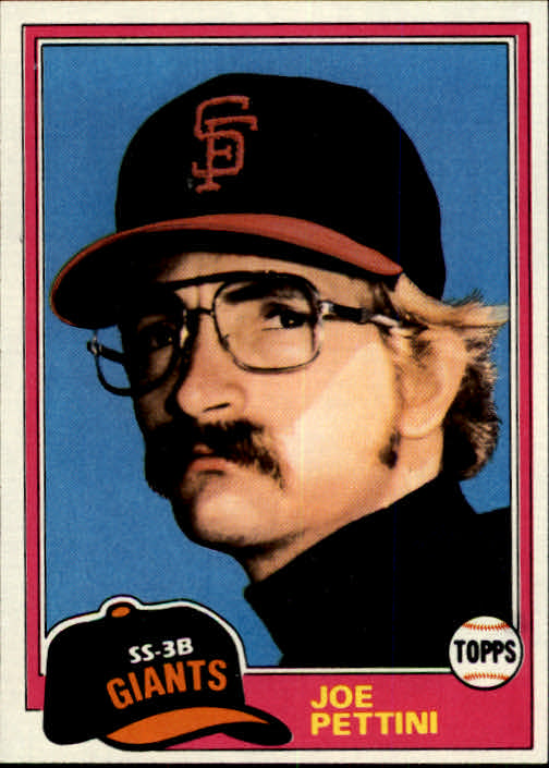 1981 Topps #62 Joe Pettini RC