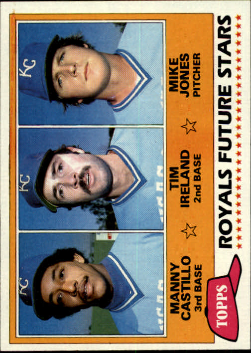1981 Topps #66 Manny Castillo RC/Tim Ireland RC/Mike Jones RC