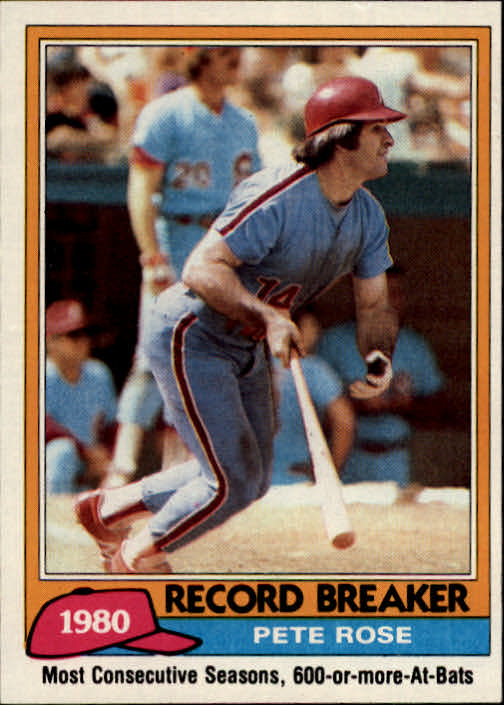 1981 Topps #205 Pete Rose RB
