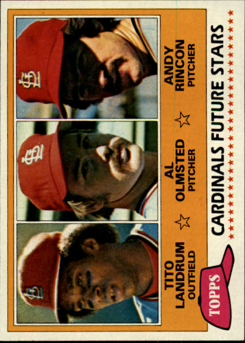 1981 Topps #244 Tito Landrum RC/Al Olmsted RC/Andy Rincon RC