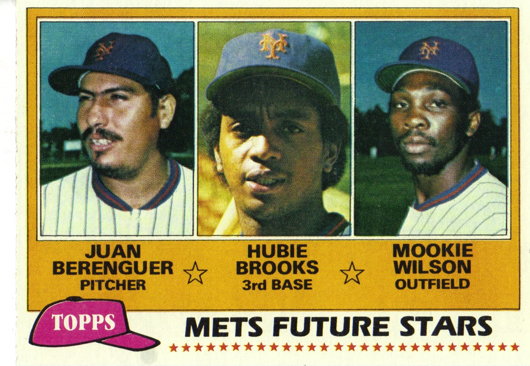 1981 Topps #259 Juan Berenguer/Hubie Brooks RC/Mookie Wilson RC