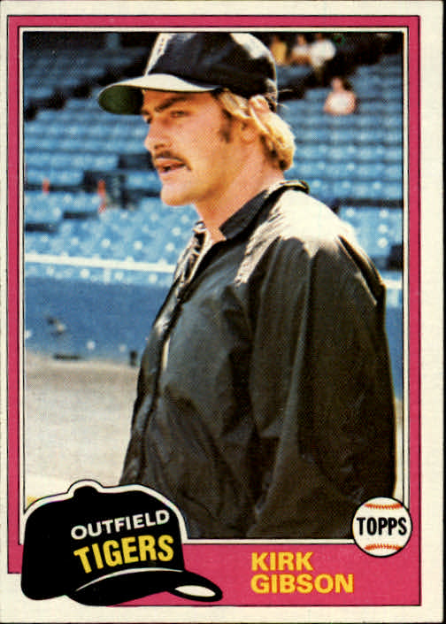 1981 Topps #315 Kirk Gibson RC