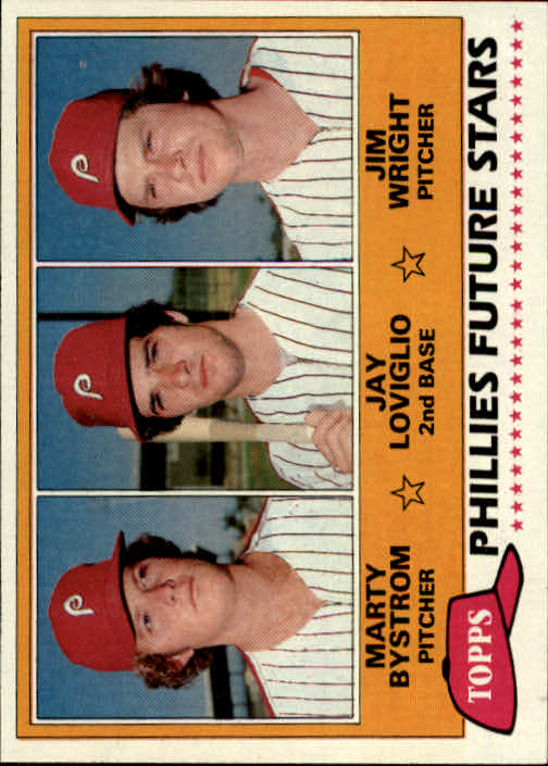 1981 Topps #526 Marty Bystrom RC/Jay Loviglio RC/Jim Wright
