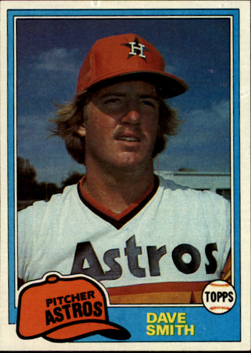 1981 Topps #534 Dave Smith RC