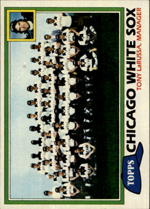 1981 Topps #664 White Sox Team/Mgr./Tony LaRussa/(Checklist back