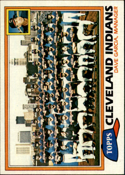 1981 Topps #665 Indians Team CL/Dave Garcia MG