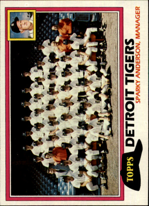 1981 Topps #666 Tigers Team/Mgr./Sparky Anderson/(Checklist back