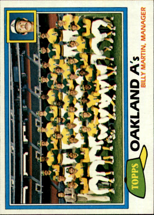 1981 Topps #671 A's Team CL/Billy Martin MG front image