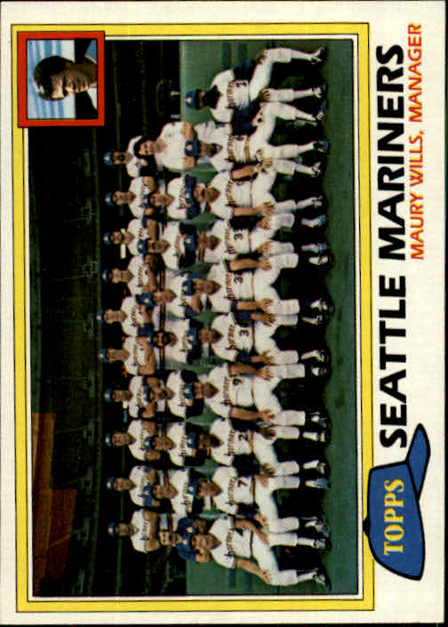 1981 Topps #672 Mariners Team CL/Maury Wills MG