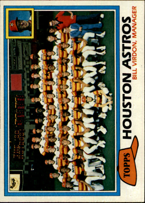 1981 Topps #678 Astros Team CL/Bill Virdon MG