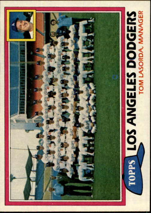 1981 Topps #679 Dodgers Team CL/Tom Lasorda MG