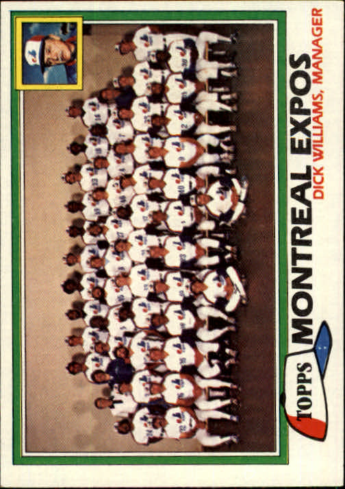 1981 Topps #680 Expos Team CL/Dick Williams MG