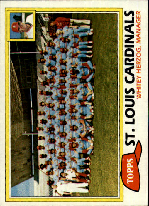 1981 Topps #684 Cardinals Team/Mgr./Whitey Herzog/(Checklist bac