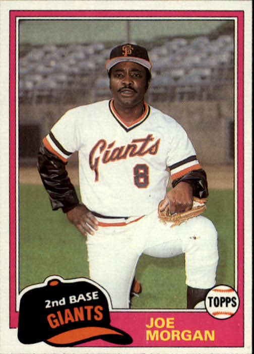 1981 Topps Traded #807 Joe Morgan