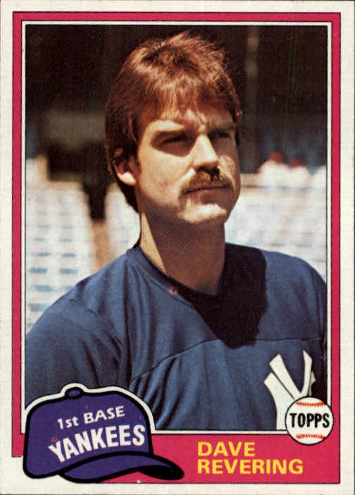 1981 Topps Traded #823 Dave Revering